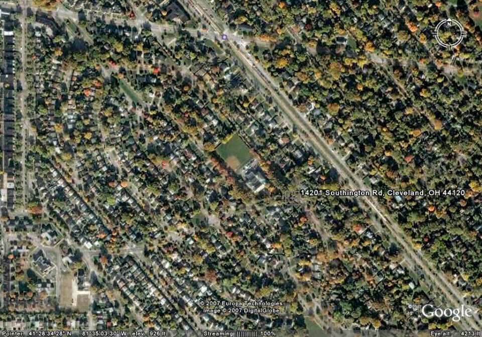 A Google Earth Satellite View Of The Ludlow Area - Satellite view