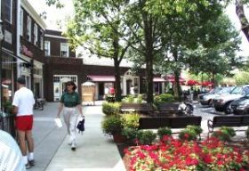 Shaker Square on a summer day