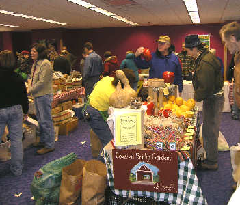 winter farmers market indoors at shaker square